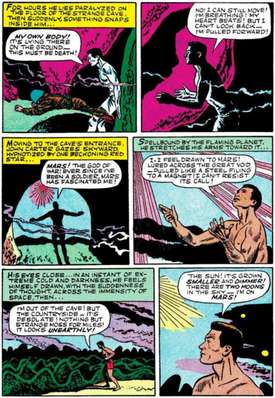 How John Carter got to Mars in six panels