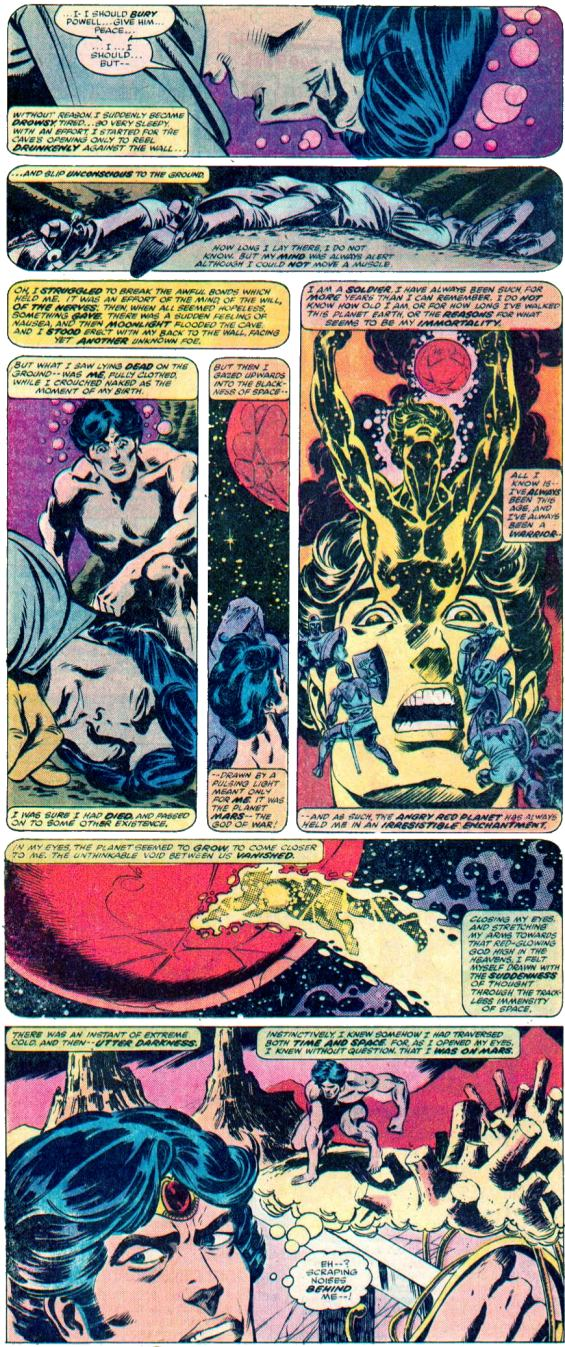 John Carter Warlord Of Mars - Eight Panel Explanation