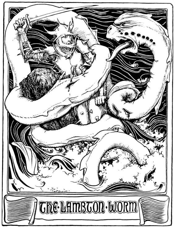 Lambton Worm - Illustration from More English Fairy Tales