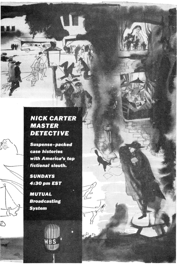 Nick Carter Master Detective ad from Astounding April 1955
