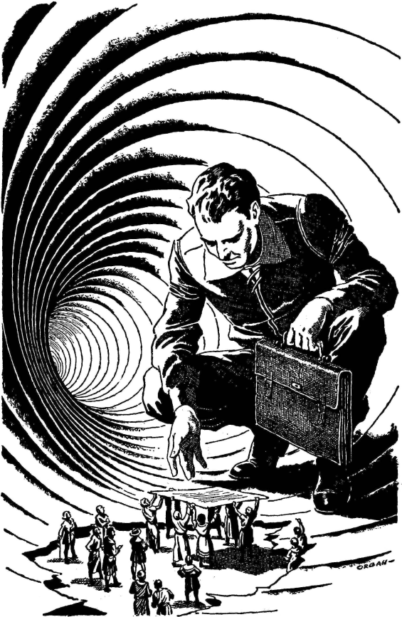 Paul Orban illustration from Prominent Author by Philip K. Dick