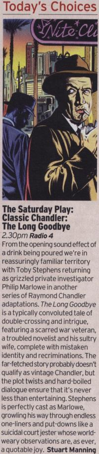 Radio Times review of The Long Goodbye