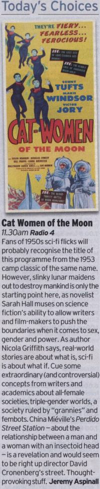 Radio Times review (by Jeremy Aspinall) of Cat Women Of The Moon