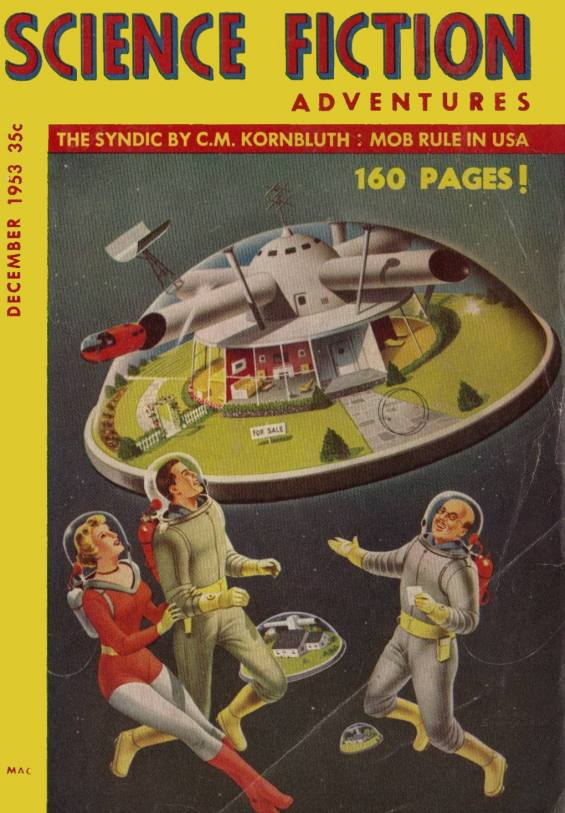 Science Fiction Adventures December 1953 - COVER