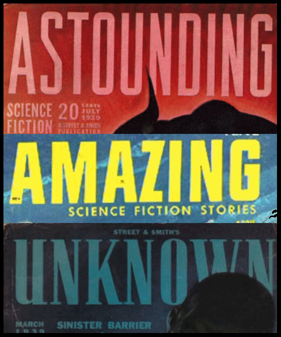 Astounding, Amazing and Unknown (SFF magazines)