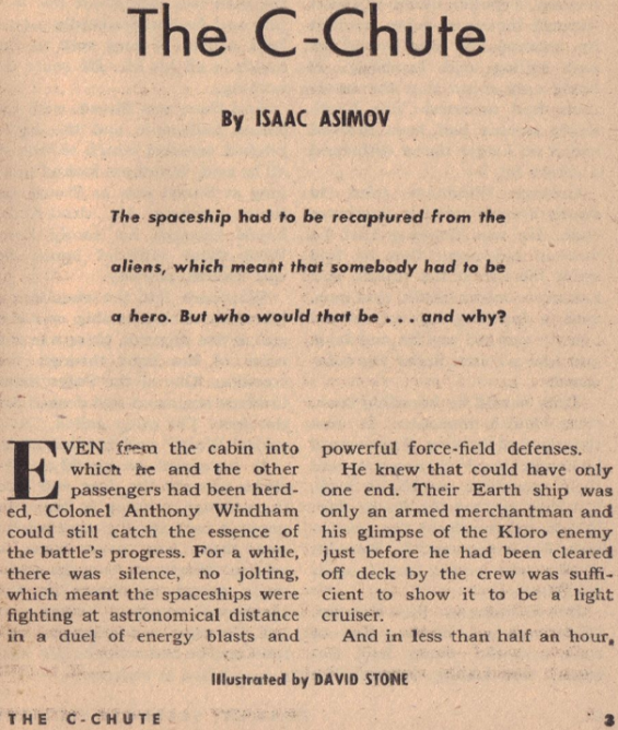 The C-Chute by Isaac Asimov - from the October 1951 issue of Galaxy Magazine