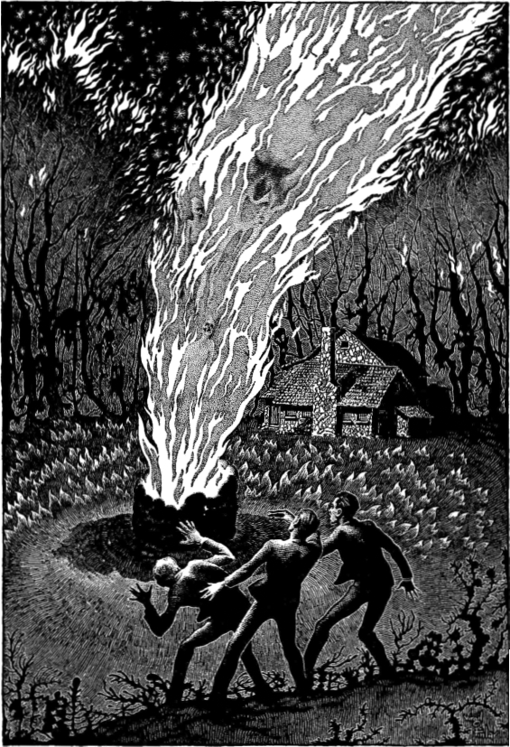 The Colour Out Of Space - illustration by Virgil Finlay