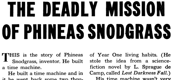 The Deadly Mission Of Phineas Snodgrass