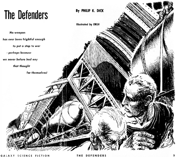 The Defenders by Philip K. Dick illustrated by Ed Emshwiller
