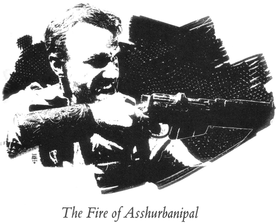 The Fire Of Asshurbanipal illustration by Tim Bradstreet