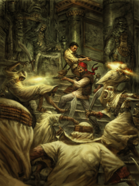 The Fire Of Asshurbanipal art by Greg Staples