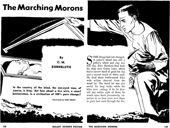 The Marching Morons by C.M. Kornbluth - illustrated by Don Sibley