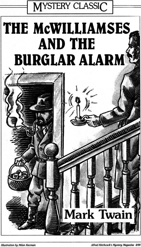 The McWilliamses And The Burglar Alarm - art by Milan Kecman