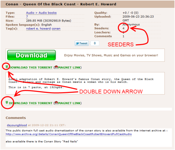 The Pirate Bay - QUEEN OF THE BLACK COAST Example