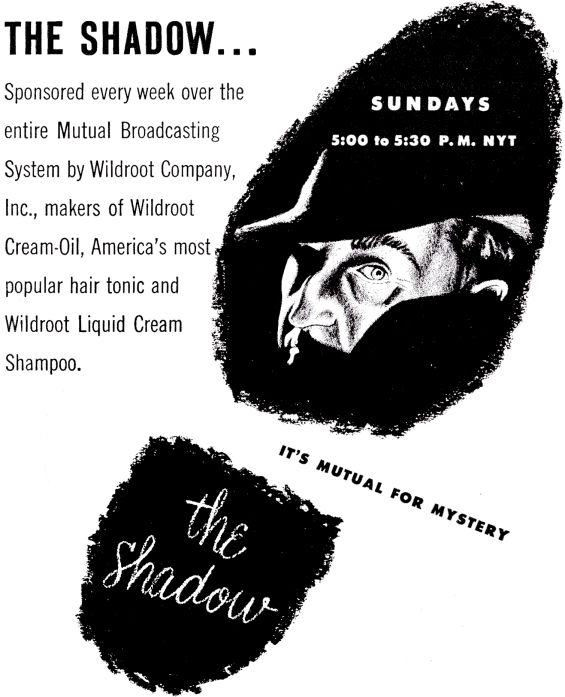 The Shadow ad from Astounding January 1952