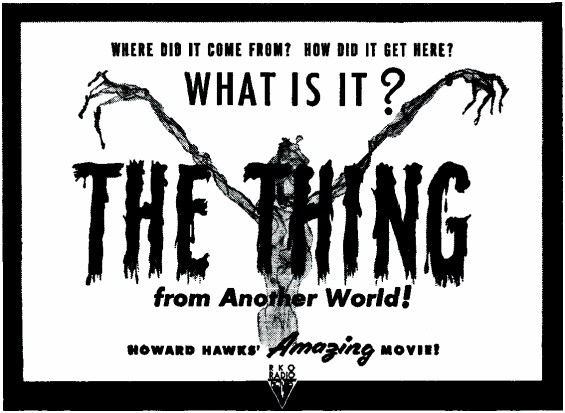 The Thing From Another World - PULP MAGAZINE AD