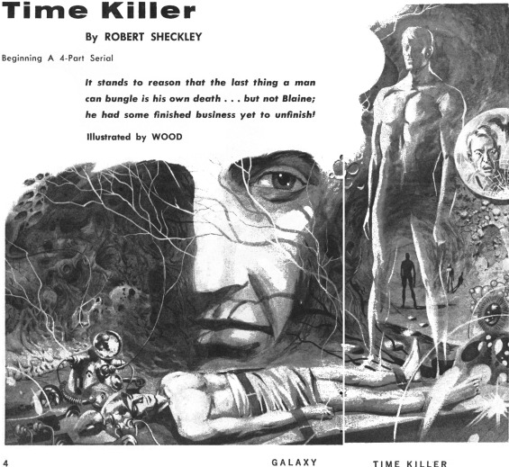 The Time Killer by Robert Sheckley - Illustration by Wood