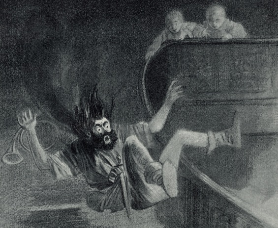 The Canterville Ghost - illustration by Wallace Goldsmith