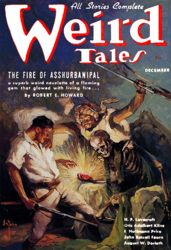 Weird Tales December 1936 - The Fire Of Asshurbanipal by Robert E. Howard