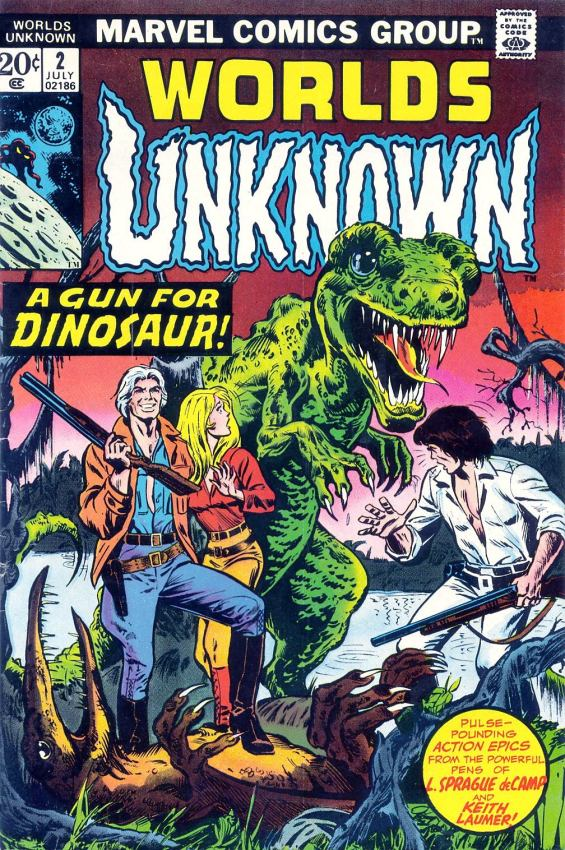 Worlds Unknown #2 - A Gun For Dinosaur - COVER