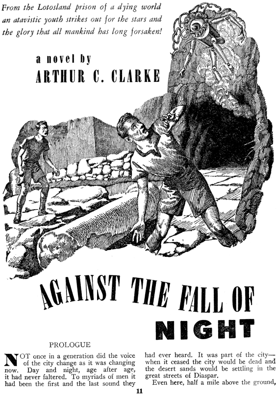 Against The Fall Of Night by Arthur C. Clarke (page 11 of Startling Stories, November 1948)