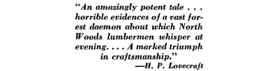 An amazingly potent tale... H.P. Lovecraft