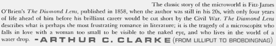Arthur C. Clarke describes The Diamond Lens (from an article in Playboy)