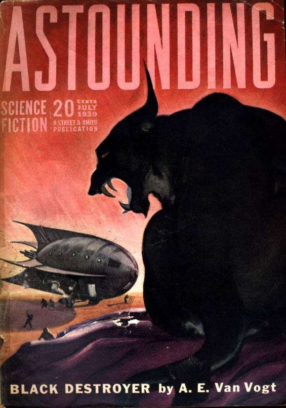 Astounding, July 1939 - Black Destroyer by A.E. van Vogt