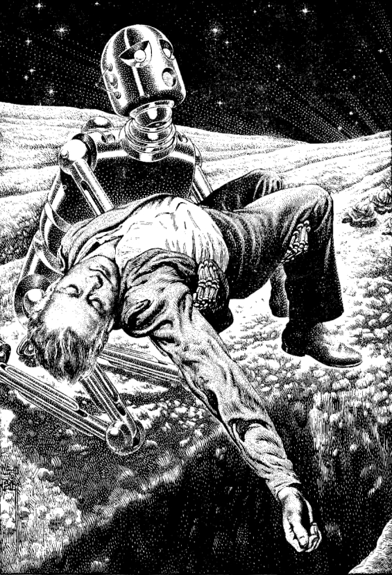 Beside Still Waters by Robert Sheckley - Illustration by Virgil Finlay