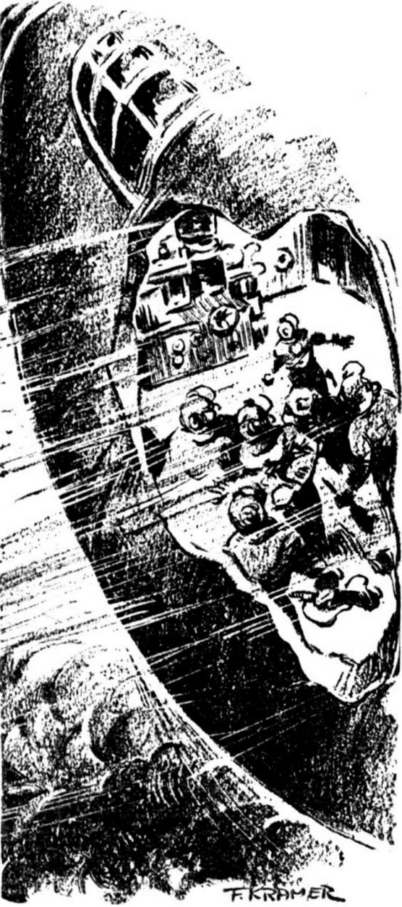 Black Destroyer by A.E. van Vogt - illustrated by Kramer