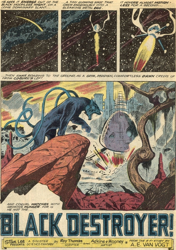 Black Destroyer adaptation - adapted by Roy Thomas with interior art by Dan Adkins and Jim Mooney
