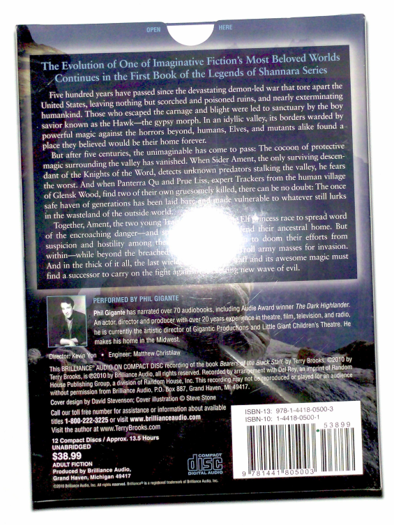 Brilliance Audio - Legends Of Shannara: Bearers Of The Black Staff by Terry Brooks (BACK)
