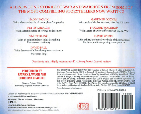 Brilliance Audio - Warriors 2 (BACK) edited by George R.R. Martin and Gardner Dozois