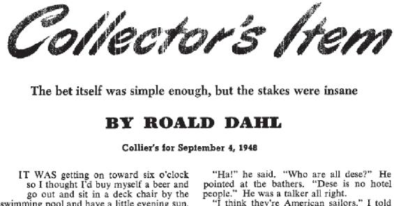 Collector's Item by Roald Dahl