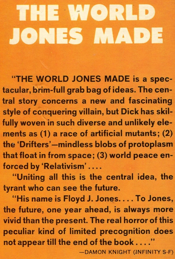 Damon Knight on The World Jones Made