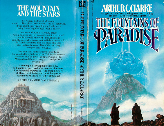 Del Rey paperback - The Fountains Of Paradise by Arthur C. Clarke
