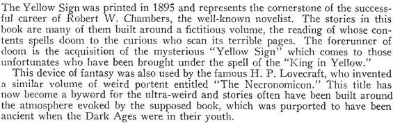 Editorial from Famous Fantastic Mysteries, September, 1943