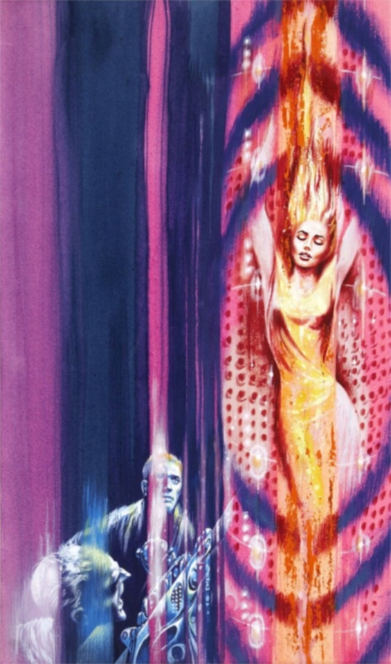 Ed Emshwiller cover illustration of Isaac Asimov's The End Of Eternity