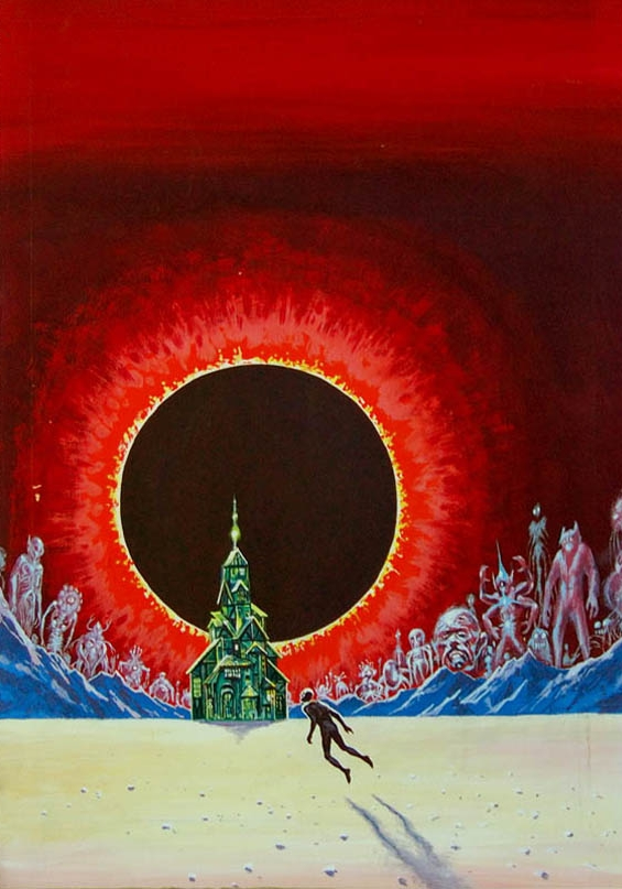 Ed Emshwiller painting for The House On The Borderland by William Hope Hodgson