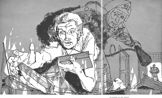 Fahrenheit 451 - illustration by Ben Denison