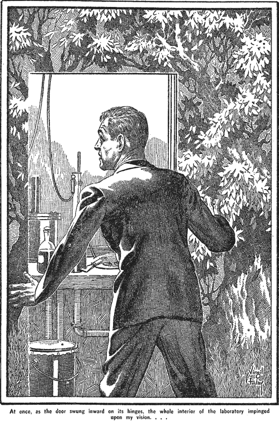 Famous Fantastic Mysteries, June 1948 - The Shadow And The Flash illustration by Virgil Finlay