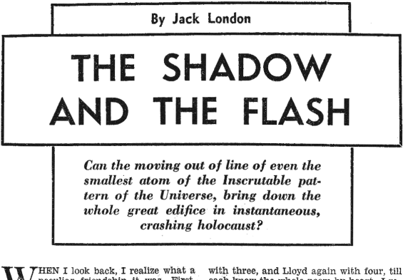 Famous Fantastic Mysteries, June 1948 - The Shadow And The Flash by Jack London