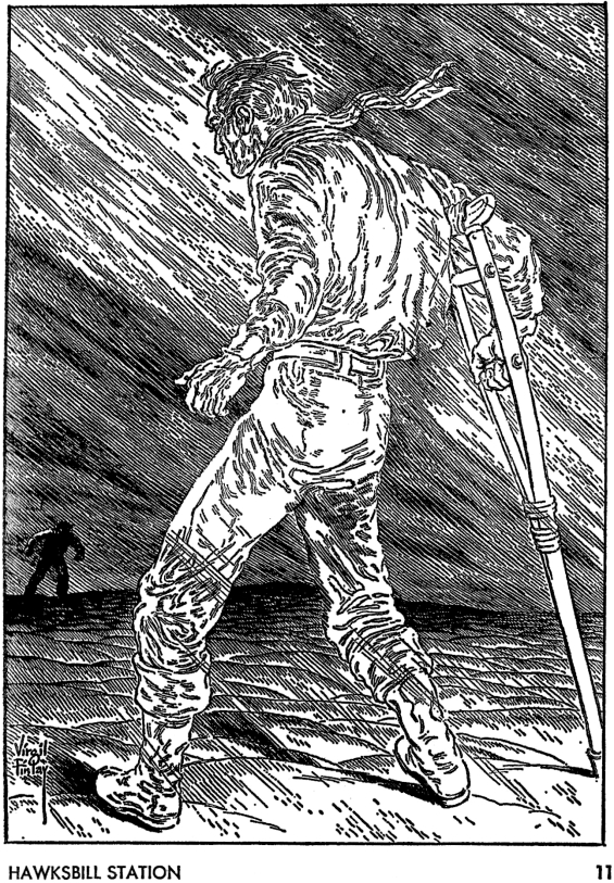 Galaxy August 1967 page 11 - illustration by Virgil Finlay