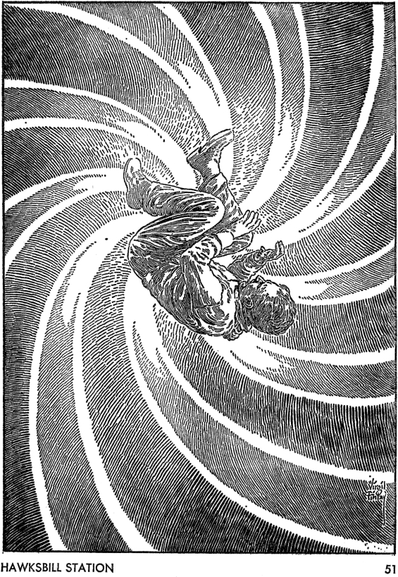 Galaxy August 1967 page 51 - illustration by Virgil Finlay
