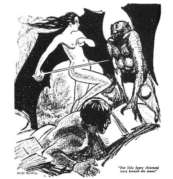 Hugh Rankin illustration from Weird Tales