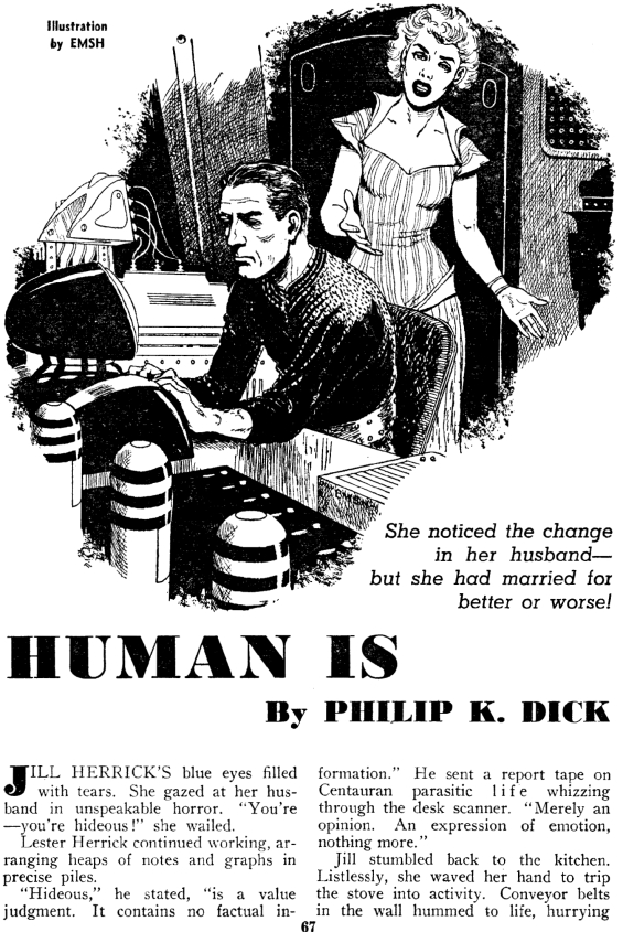 Human Is by Philip K. Dick, illustration by Emsh