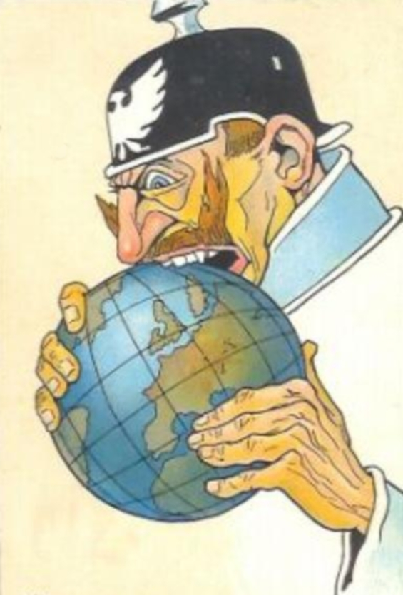 Kaiser Wilhelm II biting the world