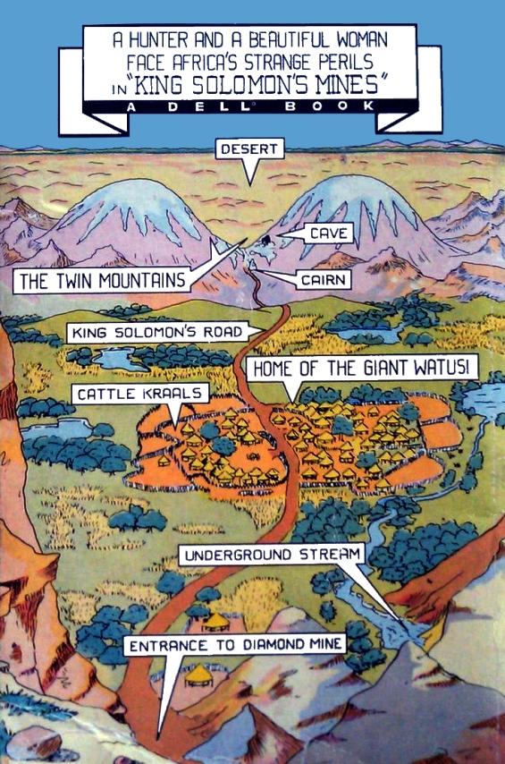 King Solomon's Mines - Dell Mapback map