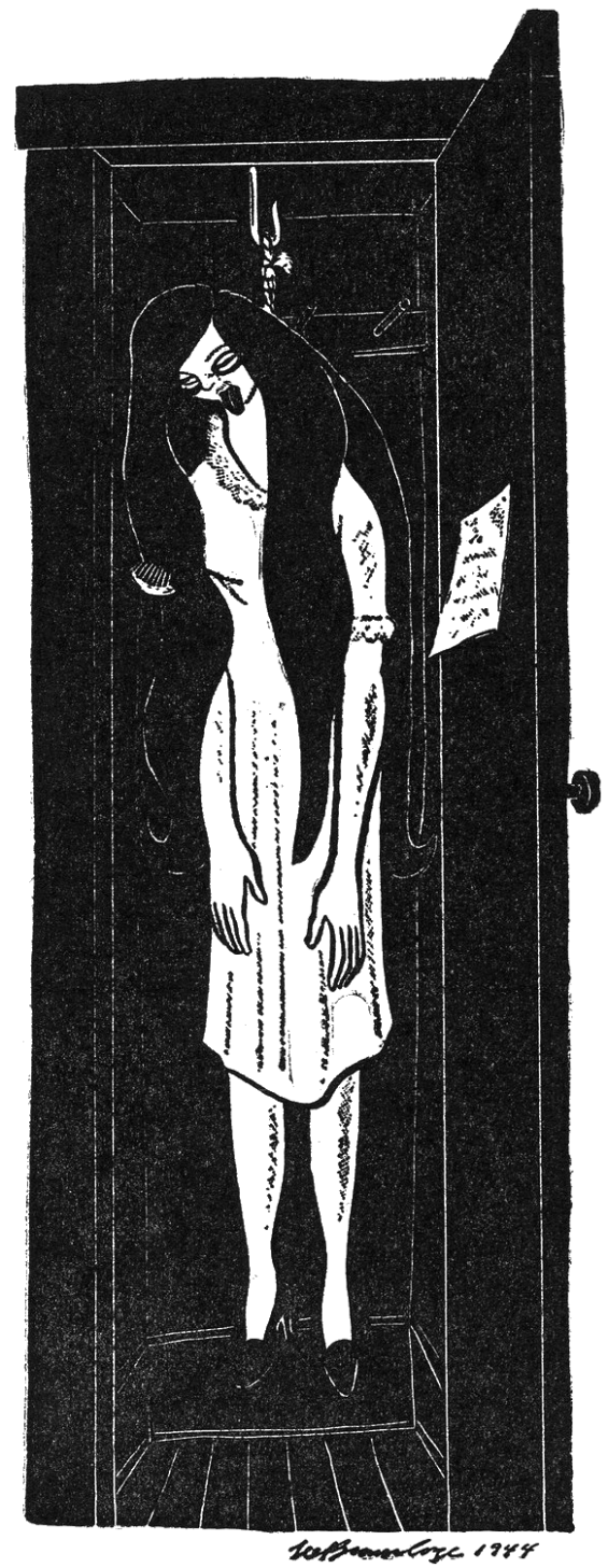 Lee Brown Coye illustration of The Occupant Of The Room from Sleep No More