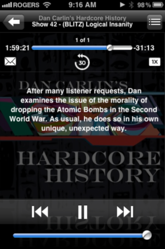 Dan Carlin's Hardcore History - #42 Logical Insanity